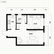 唐轩・公馆1室1厅1卫55平方米户型图