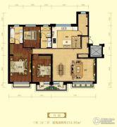 金域明珠3室2厅2卫154平方米户型图