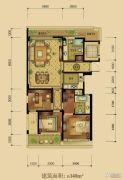 绿城西子田园牧歌3室2厅2卫140平方米户型图