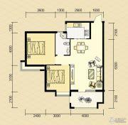 清河庄园2室2厅1卫90平方米户型图