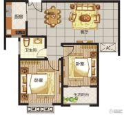 龙城国际2室2厅1卫0平方米户型图