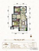 中铁城2室2厅1卫89平方米户型图