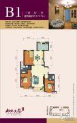 华信山水文苑3室2厅2卫172平方米户型图