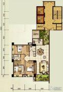 颐和山庄3室2厅2卫124平方米户型图