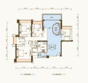 恒基五洲家园3室2厅2卫119平方米户型图