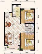 哥本哈根2室2厅1卫92平方米户型图
