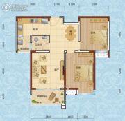 兰天一村2室2厅1卫91--93平方米户型图