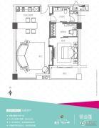 越秀可逸江畔1室2厅1卫87--93平方米户型图