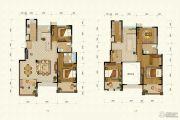 恒辉假日广场5室2厅4卫228平方米户型图