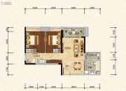 绿地新里缇香公馆2室2厅1卫78平方米户型图
