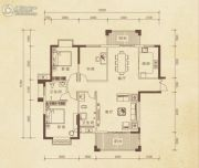家旺朗月半岛3室2厅2卫132平方米户型图
