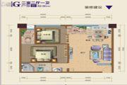 冠城一品2室2厅1卫82平方米户型图