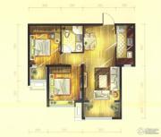 华远铭悦世家2室2厅1卫84平方米户型图