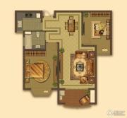 大名城2室2厅1卫87平方米户型图