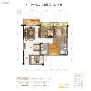 伦教碧桂园3室2厅2卫0平方米户型图