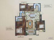 正荣悦岚山3室2厅2卫105平方米户型图