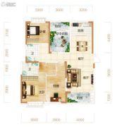 东方美地4室2厅2卫134平方米户型图