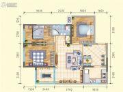 润莱金座3室2厅1卫99平方米户型图