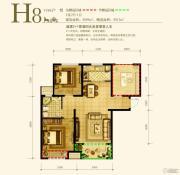 永定河孔雀城英国宫2室2厅1卫89平方米户型图
