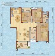 兰天一村3室2厅2卫123平方米户型图