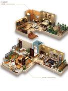 龙湖拉特芳斯3室2厅2卫77平方米户型图