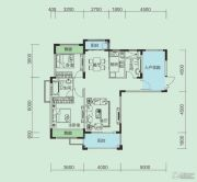 大洋五洲2室2厅2卫107平方米户型图
