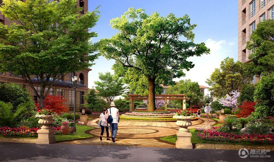 丽景中央公馆庭院景观