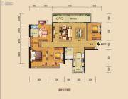 中海国际社区4室2厅2卫137平方米户型图