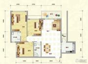 中泰名园3室2厅2卫101平方米户型图
