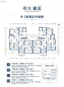 恒大龙庭3室2厅1卫104平方米户型图