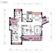 润城・双璧湾4室2厅2卫124平方米户型图