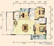 翰林世家3室2厅2卫120平方米户型图