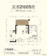 仁海・海东国际1室2厅1卫57平方米户型图