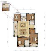 远洋雁归里4室2厅2卫115平方米户型图