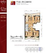 滨江国际3室1厅2卫0平方米户型图