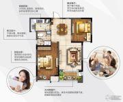 阳光100国际新城2室2厅1卫72平方米户型图