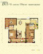 曲江千林郡3室2厅2卫119平方米户型图