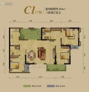 龙湖源著3室2厅1卫100平方米户型图