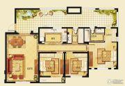 金洋奥澜半岛3室2厅2卫107平方米户型图