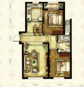 中国铁建国滨苑2室1厅1卫93平方米户型图