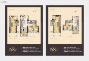万科尚城4室2厅3卫95平方米户型图