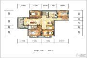 招商江湾国际4室2厅2卫148平方米户型图