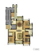 雅居乐滨江国际3室2厅3卫199平方米户型图