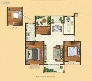 格林悦城3室2厅1卫101平方米户型图