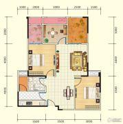 中盛・财富中心4室2厅1卫103平方米户型图