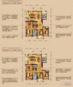 顺发吉祥半岛4室2厅2卫199平方米户型图