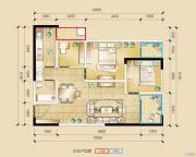 瑞鼎城3室2厅1卫86平方米户型图