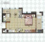 中融中央公馆1室1厅1卫37平方米户型图