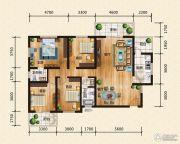 汉成华都4室2厅2卫169平方米户型图