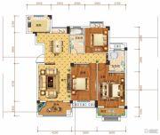 钓鱼台二期3室2厅2卫121平方米户型图